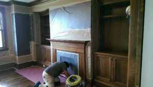 staining home office