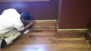 staining wood work west linn