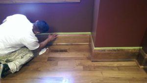 staining wood work west linn