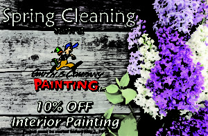 Kick start your Spring Cleaning with 10% off all interior painting for the month of May