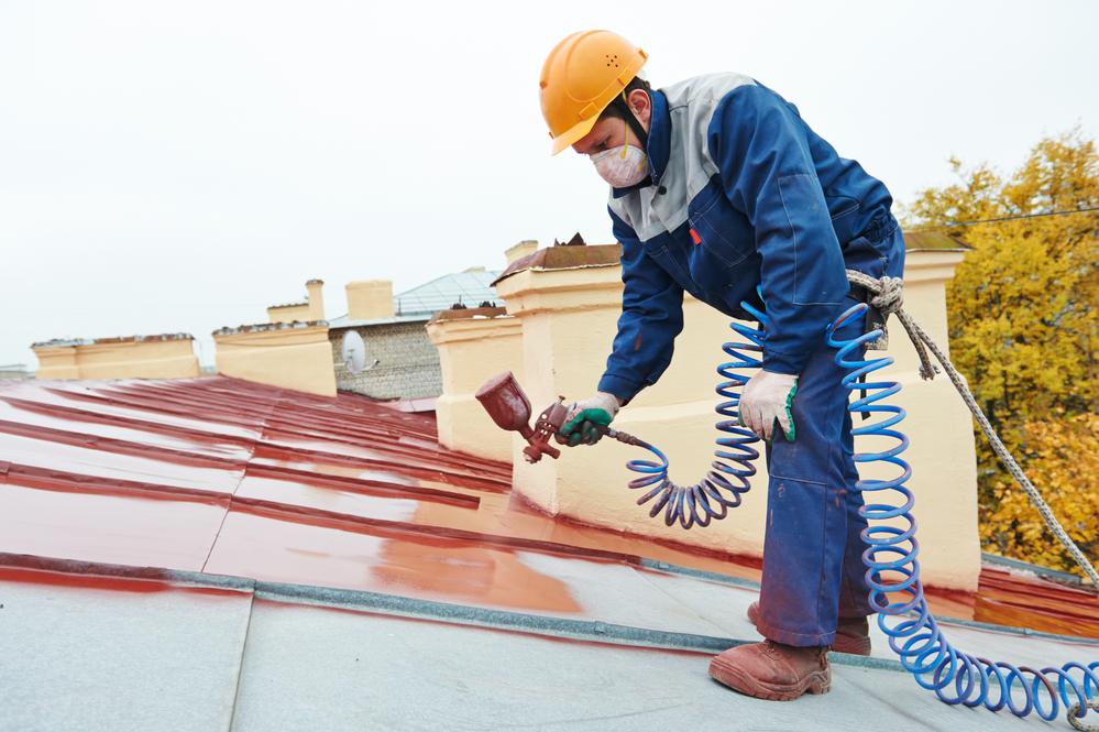 Metal roof painting Salem OR